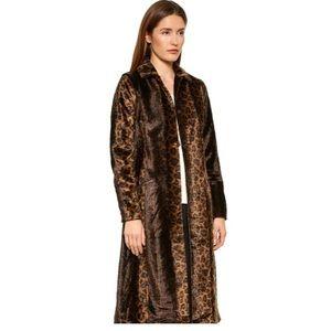 Free People Faux Fur Leopard Coat